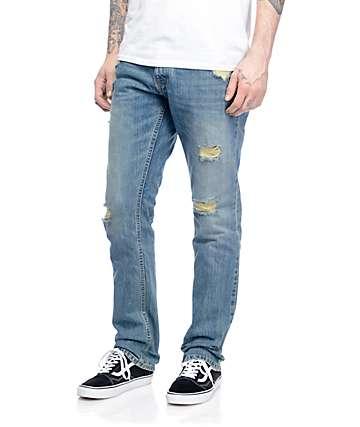 Free World Night Train Daytona jeans rotos