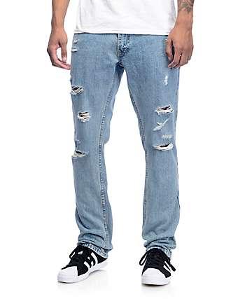 Free World Night Train Jerry Jeans rotos en azul
