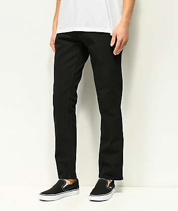 Free World Night Train Stretch Pure Black Jeans