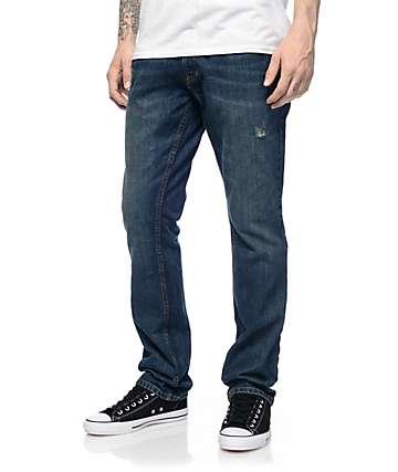 Free World Night Train pantalones azules con ajuste normal
