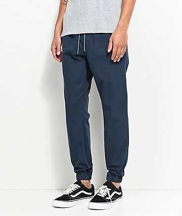 Free World Remy pantalones joggers en azul marino