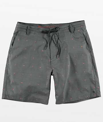 Free World Spring Tide Navy Print Hybrid Shorts
