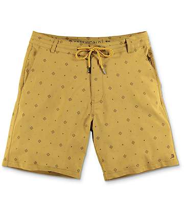 Free World Springtide Tobacco Hybrid Shorts