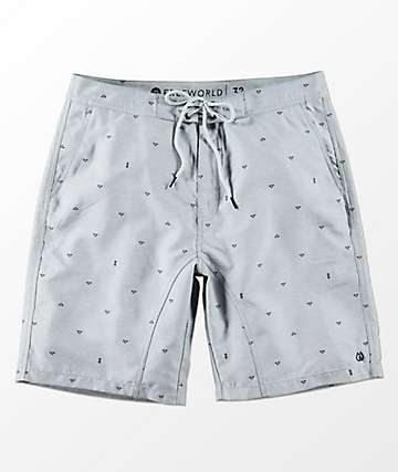Free World Surfrider shorts híbridos en gris claro