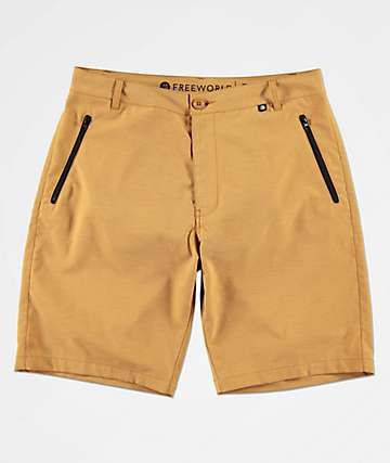 Free World Ultraist Yellow Tech Hybrid Shorts