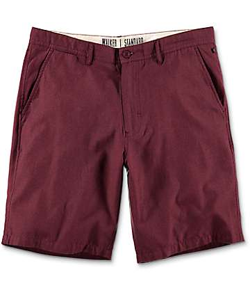 Free World Walker shorts chinos en color vino