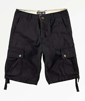 Free World Wreckage Black Cargo Shorts