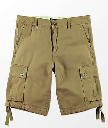 Free World Wreckage Dark Khaki Cargo Shorts