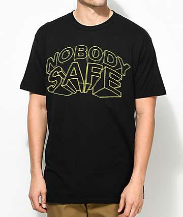 Freebandz Nobody Safe 3D Text Black T-Shirt