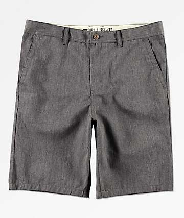 Freeworld Discord Dark Heather Grey Chino Shorts