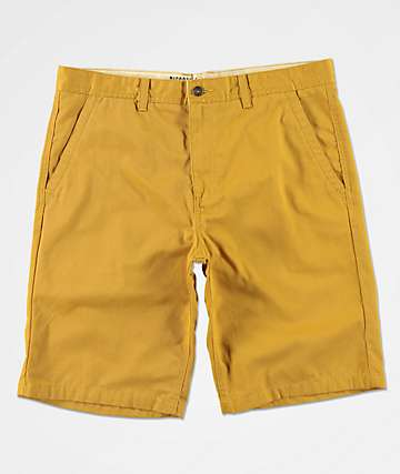 Freeworld Discord Dark Yellow Chino Shorts