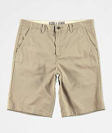 Freeworld Discord Light Khaki Chino Shorts
