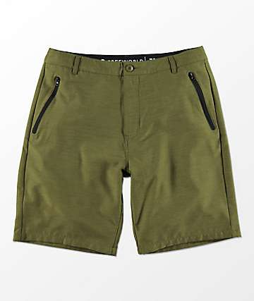 Freeworld Maverick Olive Hybrid Shorts