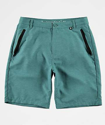Freeworld Maverick Teal Tech Hybrid Shorts