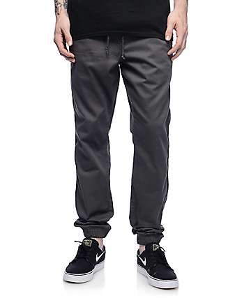 Freeworld Remy pantalones jogger en color carbón