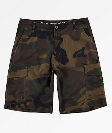 Freeworld Smashing Camo Cargo Hybrid Shorts