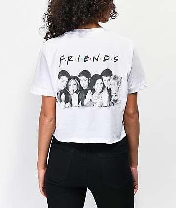 Friends Milkshake White Crop T-Shirt