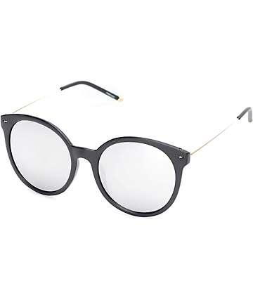 Frimley gafas de sol redondeadas en negro y oro