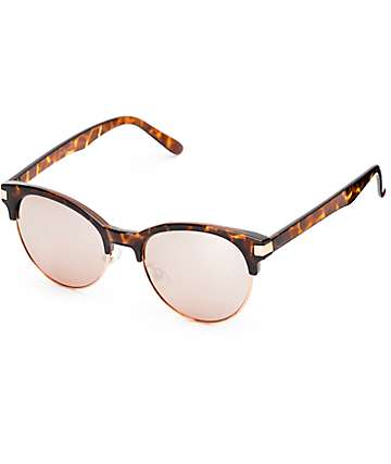 Fun House Tortoise & Rose Gold Sunglasses
