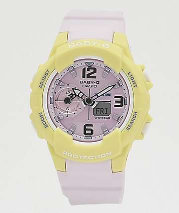 G-Shock Baby-G Lavender & Yellow Digital Watch
