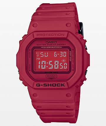 G-Shock DW-5600 Red Out Series Digital Watch