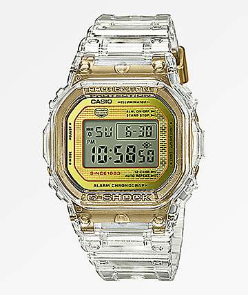 G-Shock DW5035 Skeleton Gold Digital Watch