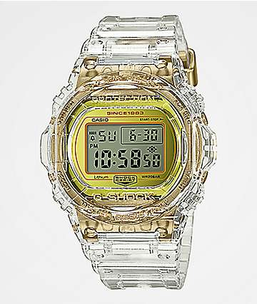 99110904d2f2 G-Shock DW5735 Skeleton reloj digital de oro