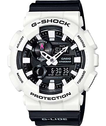 G-Shock G-Lide GAX100B-7A Black & White Analog & Digital Watch