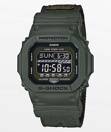 G-Shock G-Lide GLS-5600CL-3 Cloth Olive Digital Watch
