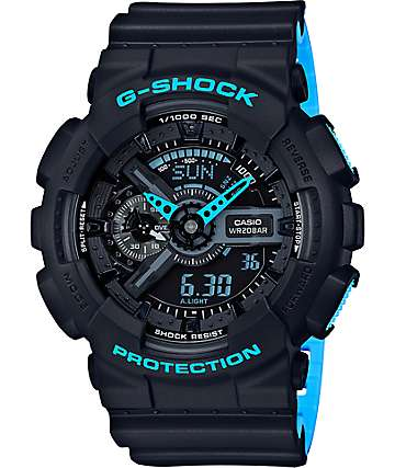 G-Shock GA-110LN-1A Grey & Blue Watch