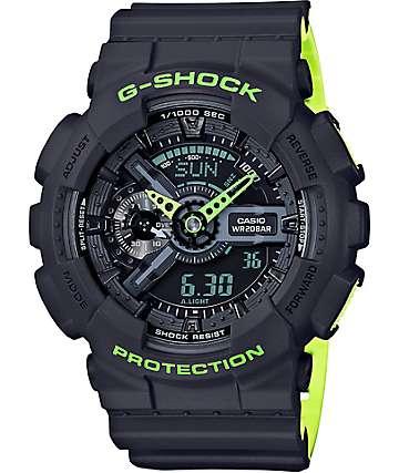 G-Shock GA-110LN-8A reloj en gris y verde