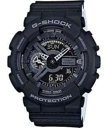 G-Shock GA-110LPA-1A Military reloj perforado en negro