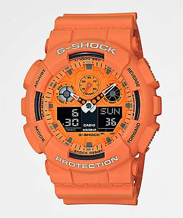G-Shock GA100 Hot Rock Orange Watch
