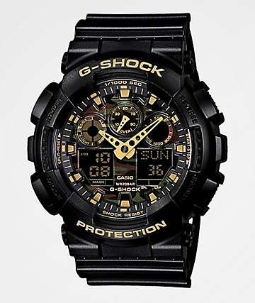 G-Shock GA100 reloj cronógrafo de patrón camo del arbolado