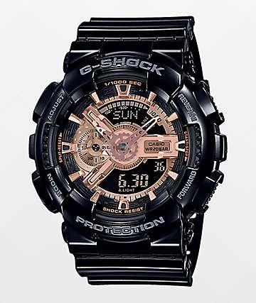 G-Shock GA110 Black & Rose Gold Watch