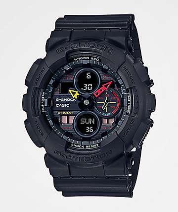 G-Shock GA140-1A Black & Mulitcolor Watch