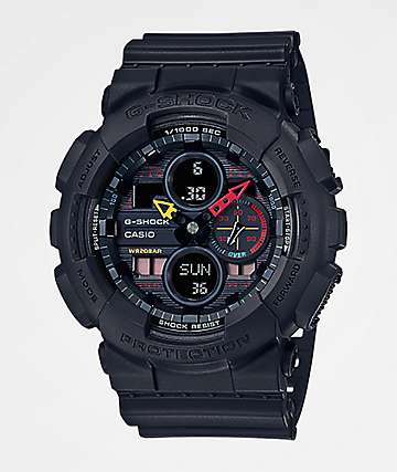 G-Shock GA140-1A Black & Mulitcolor Watch