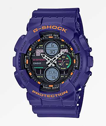 G-Shock GA140-6A Retro Purple Watch