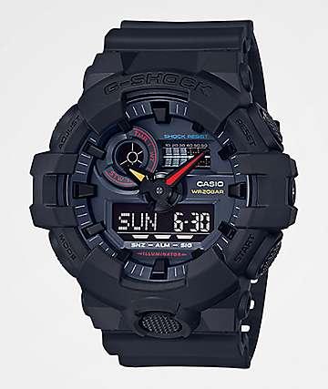G-Shock GA700-1A Black & Multicolor Watch