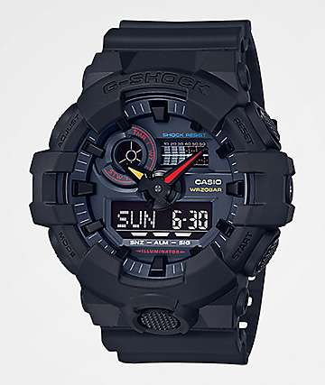 G-Shock GA700-1A Black & Multicolor Watch
