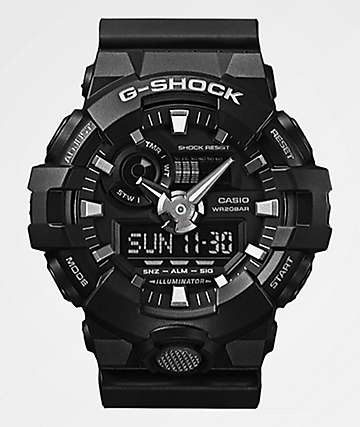 G-Shock GA700-1B Front Button Black Watch