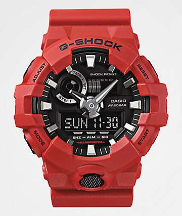 G-Shock GA700-4A Front Button Red Watch
