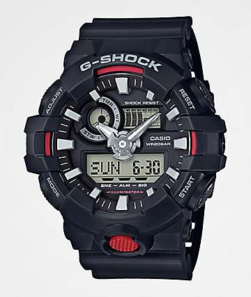 G-Shock GA700 Black & Red Watch