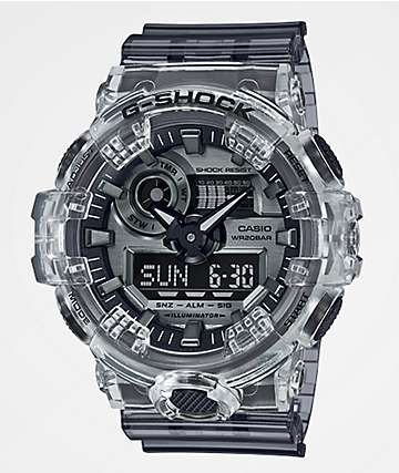 G-Shock GA700 Clear & Dark Grey Watch