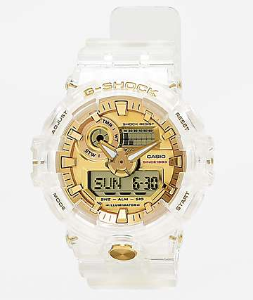 G-Shock GA735 Skeleton reloj de oro