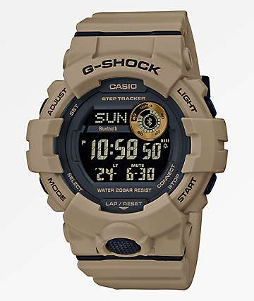 G-Shock GBD800 Dark Khaki & Black Digital Watch