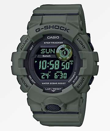 G-Shock GBD800 Dark Olive & Black Digital Watch
