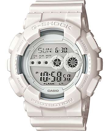 G-Shock GD-100WW-7S White Series reloj digital