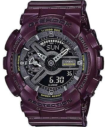 G-Shock GMAS110MC-6A Digital metalico borgoña oscuro & reloj analógico