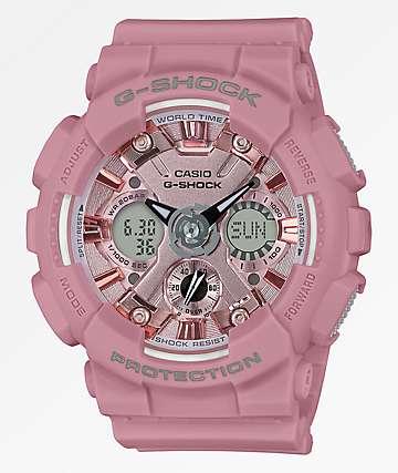G-Shock GMAS120 reloj rosa claro